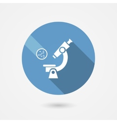 Biochemistry and microbiology icon vector