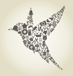 Bird art2 vector