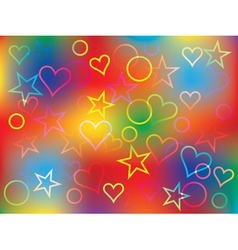 bright holiday congratulation card vector image vector image