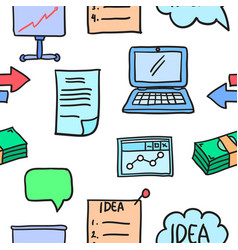 Business object various doodles vector