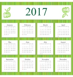 Calendar 2017 design template in vector image
