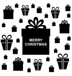 Christmas box gifts background vector