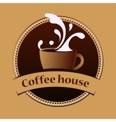 Coffee house vintage banner design template vector image vector image