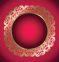 decorative frame 2907 vector image vector image