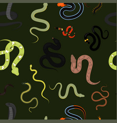 different snake reptile animals cartoon vector image vector image