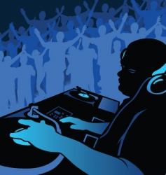 dj music vector image vector image