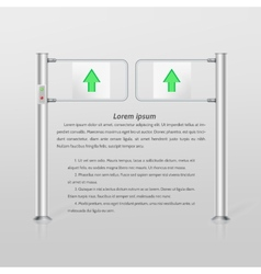 Double turnstile with green arrows vector