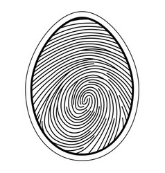 fingerprint image of a finger vector image