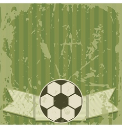Football grunge greeting card vector image