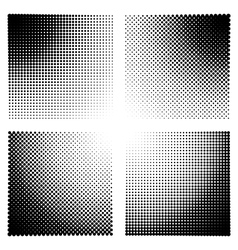 Halftone effect templates for backgrounds vector