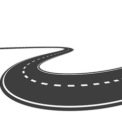 Highway isolated on a white background vector
