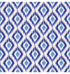 ikat seamless pattern vector image vector image