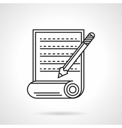 Manuscript icon flat line icon vector
