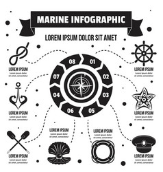 marine infographic concept simple style vector image vector image