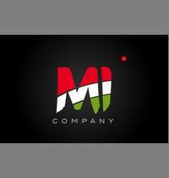 Mi m i alphabet letter logo combination icon vector