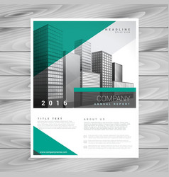 Modern green brochure flyer design cover vector
