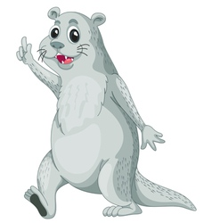 mr otter vector image