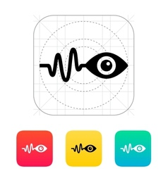 Pulse observation icon vector