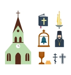 Religion icons vector image