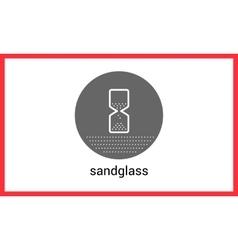 Sandglass contour outline icon vector image