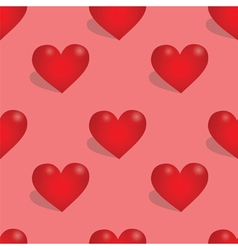 Seamless pattern with hearts vector image