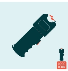 Stun gun icon vector