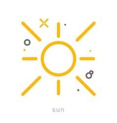 Thin line icons Sun vector image
