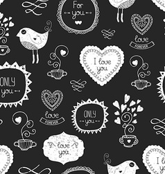 Vintage love background vector