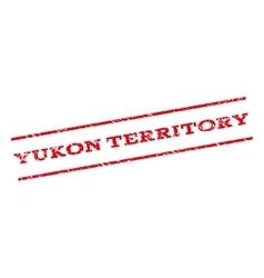 Yukon territory watermark stamp vector