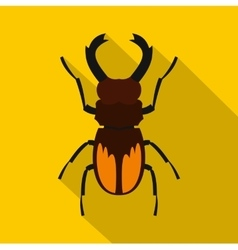Stag beetle icon flat style vector