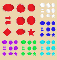 Set of paper labels and stickers vector