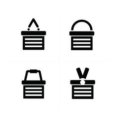 shopping cart icon set 4 style vector image