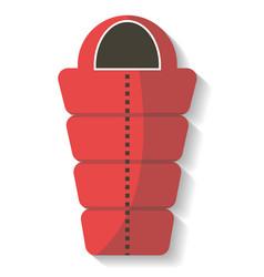tourist sleeping bag icon isolated vector image