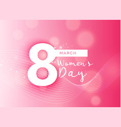 Beautiful pink international womans day design vector