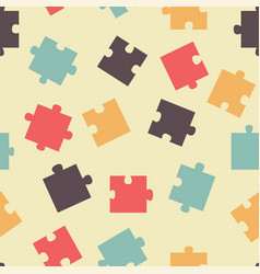 Seamless pattern pieces of puzzle vector