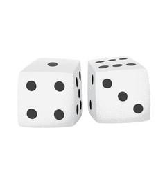 Cartoon style grunge casino dice isolated vector