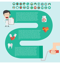 Medical infographics in flast design with useful vector