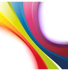 Bright rainbow wave background vector image