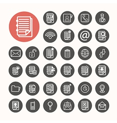 Finance icons and documents note icons set vector