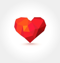 Polygons geometric mosaic heart vector