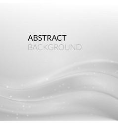 Abstract white silver background with smooth lines vector