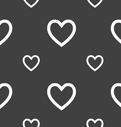 Heart sign icon love symbol seamless pattern on a vector