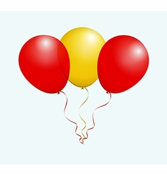 Balloons in red yellow as spain national flag vector