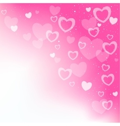 Dream hearts pink background vector