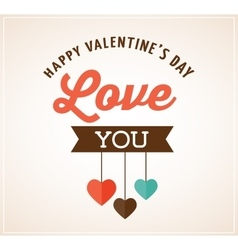 Valentines day greeting card and poster vector
