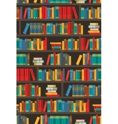 Book shelves dtcorative colorful icon poster vector