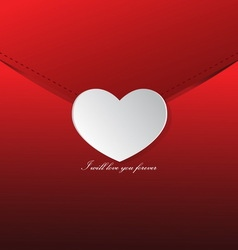 Love letter valentines day vector