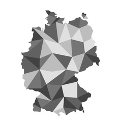 Basics maps of germany vector