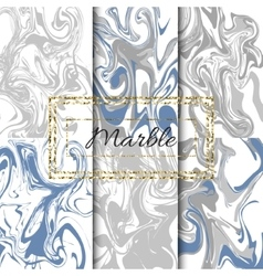Marble texture set hand drawn ink marble vector
