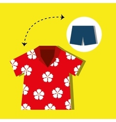 Tourist clothes design vector